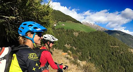 Mountainbike AllMountain Tour: Zugtrail Mix Vinschgau